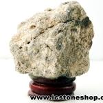 ไรโอไลต์ตานก Birds Eye Rhyolite ตั้งโต๊ะ ฐานไม้ (86g)