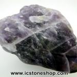 เซฟรอนอเมทิสต์ ( Chevron Amethyst ) หินขัดมันขนาดพกพา (22g)