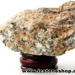 ▽ไรโอไลต์ตานก Birds Eye Rhyolite ตั้งโต๊ะ ฐานไม้ (99g)