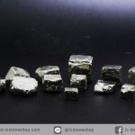 เพชรหน้าทั่ง หรือไพไรต์ pyrite ทรงลูกบาศก์ 12 ชิ้น (50g)