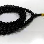 ▽ประคำ 108 เม็ด ออบซิเดียน (Obsidian) 12 mm.