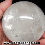 แคลไซต์(calcite) สีขาว ขนาดใหญ่ทรงบอล 7.7 cm 667g
