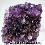 ▽อเมทิสต์ (Amethyst) + แคลไซต์ (Calcite) อุรุกวัย ตั้งโต๊ะ (157G)