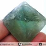 หินธรรมชาติฟลูออไรต์ -Fluorite ทรงพีระมิดคู่ bipyramid (65g)