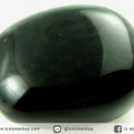 หินออบซิเดียน (Sheen Obsidian) หินขัดมันขนาดพกพา (43g)