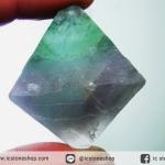 หินธรรมชาติฟลูออไรต์ -Fluorite ทรงพีระมิดคู่ bipyramid (45g)