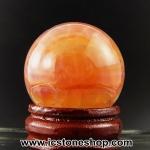 อาเกตลายธรรมชาติ (ฺCrackled Fire Agate) ทรงบอล 3 cm