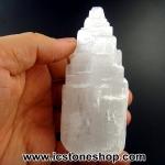 ▽เซเลไนต์ Selenite ธรรมชาติทรงเจดีย์ (10.2cm.-266g)