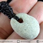 จี้เชือกเทียนถัก Holey stone (4.3g)