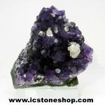 ▽อเมทิสต์ (Amethyst) + แคลไซต์ (Calcite) อุรุกวัย ตั้งโต๊ะ (124G)