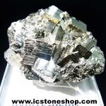 ผลึกกลุ่มไพไรต์ Pyrite เปรูแหล่งสวยสุดในโลก (80g)