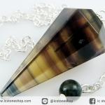 เพนดูลัม ฟลูออไรท์ Fluorite (10.1g)