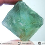 หินธรรมชาติฟลูออไรต์ -Fluorite ทรงพีระมิดคู่ bipyramid (73g)