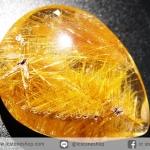 =โปรโมชั่น= พลอยไหมทอง Golden Rutilated Quartz (17.41 ct.)