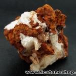 ▽เฮมิมอร์ไฟต์ บนไลโมไนท์ (Hemimorphite on Limonite Matrix) จากเม็กซิโก (69g)