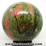 ยูนาไคต์ (Unakite) ทรงบอล หินทรงกลม 7.6 cm