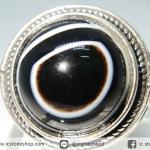 แหวนอาเกตดวงตาสวรรค์ (แหวนเบอร์ : 59 -ปรับได้, 13g)