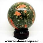 ยูนาไคต์ (Unakite) ทรงบอล หินทรงกลม 7.3 cm