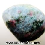 ▽ทับทิมในไคยาไนต์ Ruby in Blue Kyanite ขัดมัน ขนาดพกพา (21g)