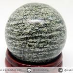 Green Zebra Jasper ทรงบอล 3 cm.