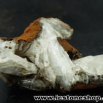 ▽เฮมิมอร์ไฟต์ บนไลโมไนท์ (Hemimorphite on Limonite Matrix) จากเม็กซิโก (51g)