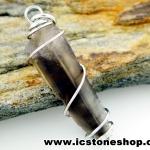จี้สโมกี้ควอตซ์สีเข้ม black smokey quartz (2.5g)