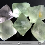 หินฟลูออไรต์ (Fluorite) ธรรมชาติทรงพีระมิคคู่ 6 ชิ้น (15g)