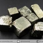 เพชรหน้าทั่ง หรือไพไรต์ pyrite ทรงลูกบาศก์ 7ชิ้น (30g)