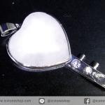 จี้โรสควอตซ์ Rose Quartz จี้กุญแจหัวใจ(11g)