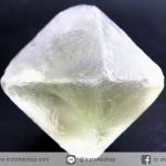 หินฟลูออไรต์ (Fluorite) ธรรมชาติทรงพีระมิคคู่ (19g)