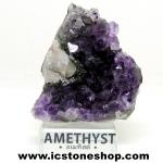 อเมทิสต์ (Amethyst)+แคลไซต์ อุรุกวัย ตั้งโต๊ะ (77G)