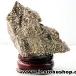 ▽ไรโอไลต์ตานก Birds Eye Rhyolite ตั้งโต๊ะ ฐานไม้ (40g)