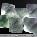 หินฟลูออไรต์ (Fluorite) ธรรมชาติทรงพีระมิคคู่ 6 ชิ้น(23g)
