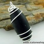 ▽ศิวลิงค์คัม หรือหินพระศิวะ สีดำ หินศักดิ์สิทธิ์จากอินเดีย (13g)