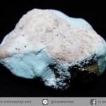 เทอร์ควอยส์-ไพไรต์ (Campitos Turquoise with Pyrite) Mexico (4.3g)