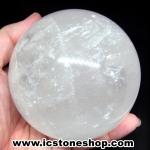 แคลไซต์(calcite) สีขาว ขนาดใหญ่ทรงบอล 9.1 cm 1.125Kg