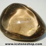 =โปรโมชั่น= พลอยสโมกกีไหมทอง Golden Rutilated in Smoky Quartz (68.50ct.)
