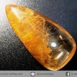 =โปรโมชั่น= พลอยไหมทอง Golden Rutilated Quartz (19.61 ct.)