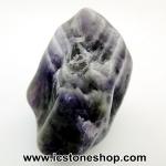 เซฟรอนอเมทิสต์ ( Chevron Amethyst ) หินขัดมันขนาดพกพา (13g)