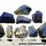 ลาพิส ลาซูลี่ Lapis Lazuli ก้อนธรรมชาติ 9 ชิ้น (105g)