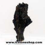 ไคยาไนท์สีดำ Black Kyanite (16g) พร้อมฐานกระจก