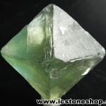 ▽หินธรรมชาติฟลูออไรต์ -Fluorite ทรงพีระมิดคู่ bipyramid (87g)