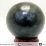 หินมงคล เนื้อแร่เหล็กไหลเขาอึมครึมทรงกลม (4.3cm-155g)