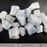แคลไซต์สีฟ้าธรรมชาติ (Blue Calcite) 17 ชิ้น (50g)