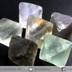หินฟลูออไรต์ (Fluorite) ธรรมชาติทรงพีระมิคคู่ 6 ชิ้น(33g)