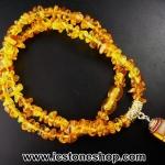 ▽สร้อยคอ อำพันบอลติกGenuine Baltic Amber (11g, 40 cm.)