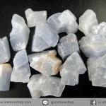 แคลไซต์สีฟ้าธรรมชาติ (Blue Calcite) 15 ชิ้น (50g)