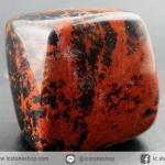 หินมะฮอกกานี ออบซิเดียน (Mahogany Obsidian) หินขัดมันขนาดพกพา (36g)