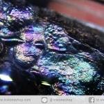 จี้เหล็กไหล 7 สี จากเขาอึมครึมเข้ากรอบอะคริลิคกันน้ำ (33g)