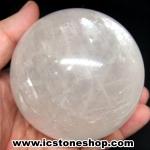 แคลไซต์(calcite) สีขาว ขนาดใหญ่ทรงบอล 8.1 cm 764g